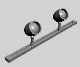 Track spot lighting 3d model