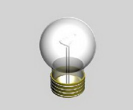 Screw socket bulb 3d model