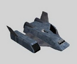 Space transport ship 3d model
