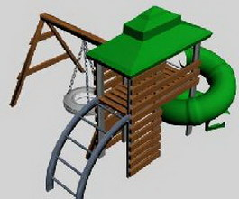 Playground Structure 3d model