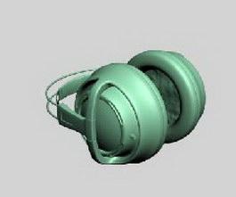 Headset headphones 3d model