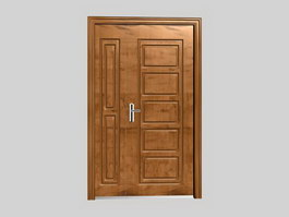 Wooden security doors 3d model