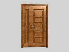 Wooden security doors 3d model