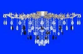 Metal crystal floriated droplight 3d model