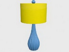 Concise style table lamp 3d model