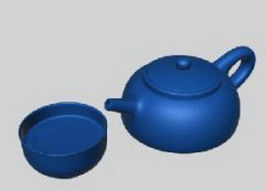 Tea set Cups and teapot 3d model