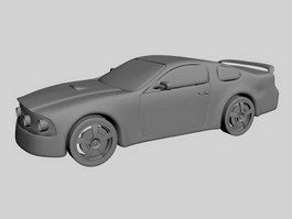 Automobile race 3d model