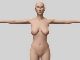 Grown-up women 3d model