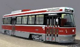 Trolley car 3d model