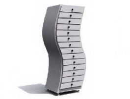 Modern office filing cabinet 3d model