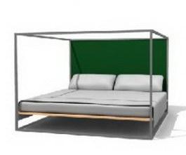 Metal Bed-Double 3d model