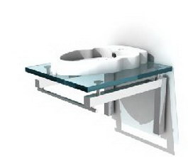 Glass Washbasin 3d model
