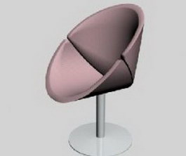 Modern Bar Chairs fabric sofa 3d model