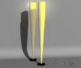 Corner Floor Lamp 3d model