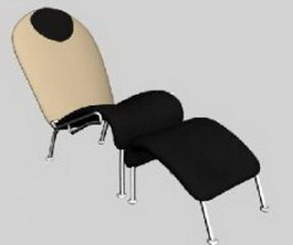 IKEA Fabric Chaise Lounge Footrest 3d model