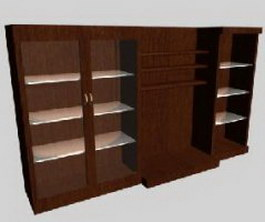 Ilinois home Display cabinet sets 3d model