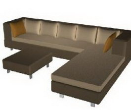 Fabric Corner sofa combination texture