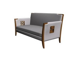 Combination of three sofas 3d model