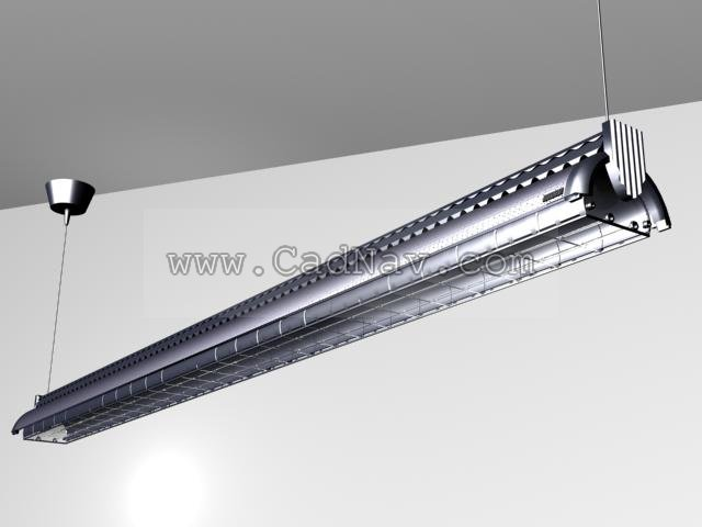 Fluorescent Lamp 3d Model 3ds Max Files Free Download