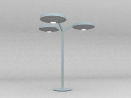 3 arms floor lamp 3d model