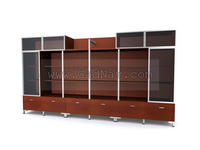 Filing Cabinet wall unit 3d model 3Ds Max files free download ...