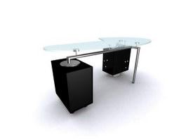 Arc Glass reception desk 3d model