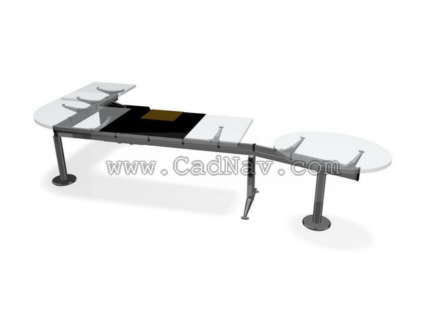 glass office computer desks unit 3d model 3ds max files free download