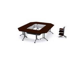 Conference Table And Chair 3d model