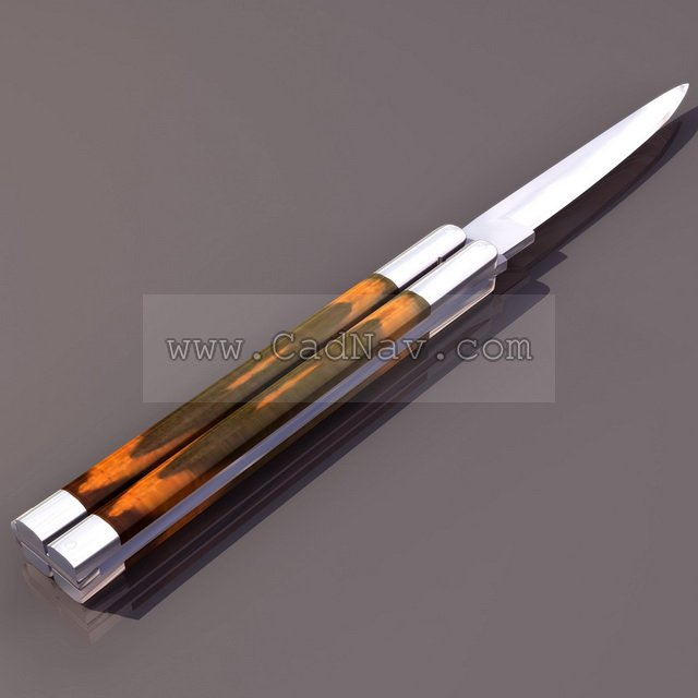 Flick knife 3d model - CadNav