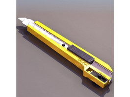 Pen knife cutter 3d model