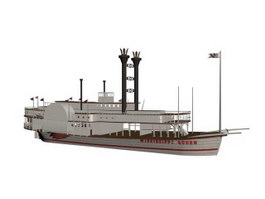 Mississippi Queen cruise 3d model