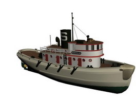 Coastal patrol boat 3d model