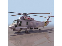 SH-2F Seasprite naval helicopters 3d model
