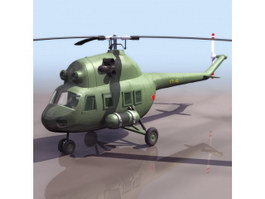 MIL Mi-2 multi-purpose helicopter 3d model