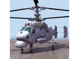 Ka25 anti submarine helicopter 3d model