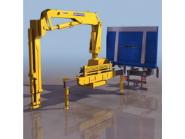 Arm elevate crane jib 3d model