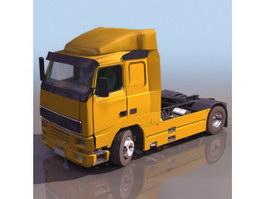 Volvo trailer truck 3d model