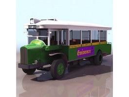 Village bus 3d model