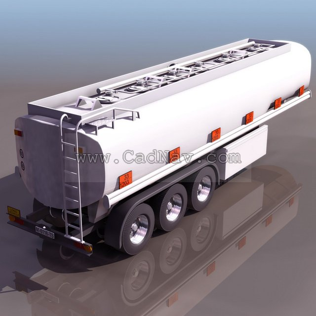 Tank Truck Trailer 3d Model 3ds Max 3ds Files Free Download