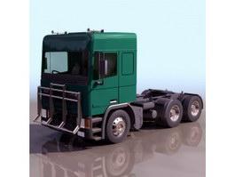 Large platform trailer 3d model