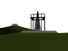 Electric power pylon 3d model