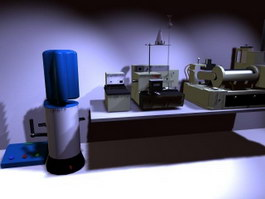 Laboratory equipment 3d model