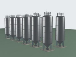 Stainless steel retort 3d model