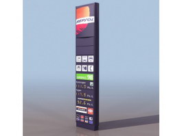 Gasoline filling station billboards 3d model