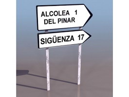 Traffic Guide Sign 3d model