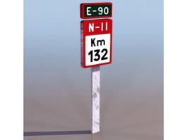 KM sign 3d model