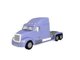 Flat bed truck 3d model