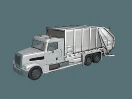 Refuse collection vehicle 3d model