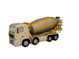 Concrete delivery truck 3d model