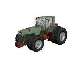 Tractor 8 Wheel 3d model